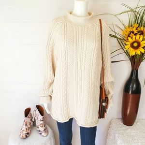 J. Crew chunky thick cotton cable knit sweater